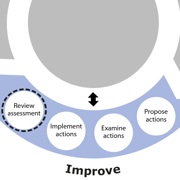 Review assessment is the final activity in the Improve phase of SSA